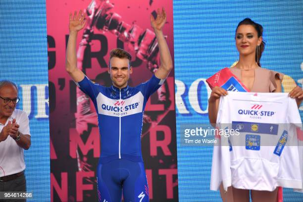 Podium / Maximilian Schachmann of Germany and Team Quick-Step Floors White Best Young Rider Jersey / Celebration / during the 101th Tour of Italy...