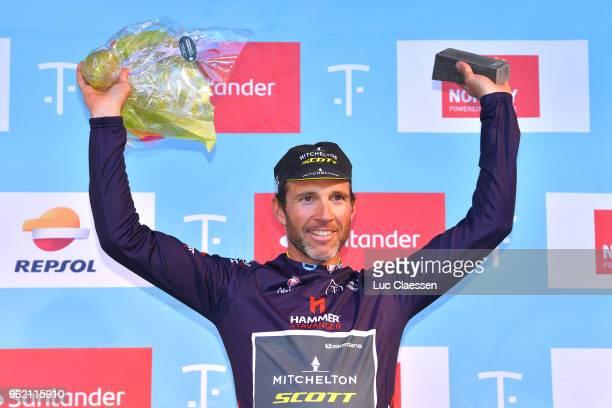 Podium / Michael Albasini of Switzerland and Team MitcheltonScott Black Points Jersey / Celebration / Trophy / during the 11th Tour des Fjords 2018...