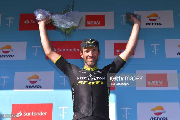 Podium / Michael Albasini of Switzerland and Team MitcheltonScott / Celebration / during the 11th Tour des Fjords 2018 Stage 2 a 188km stage from...
