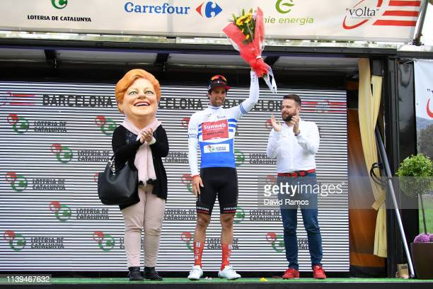 Podium / Michael Matthews of Australia and Team Sunweb Blue points Jersey / Celebration / during the 99th Volta Ciclista a Catalunya 2019 Stage 7 a...
