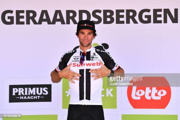 Podium / Michael Matthews of Australia and Team Sunweb / Celebration / during the 14th BinckBank Tour 2018 Stage 7 a 2156km stage from Lacs de l'Eau...