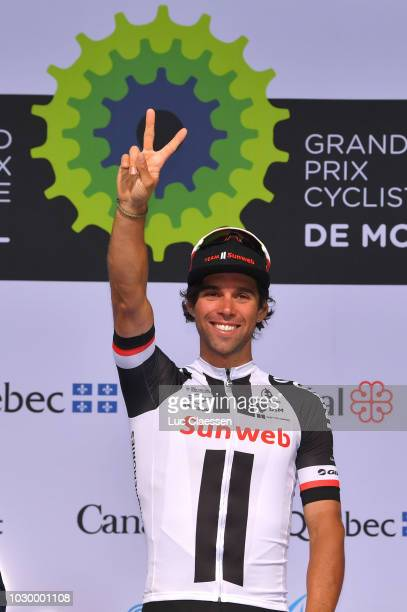Podium / Michael Matthews of Australia and Team Sunweb / Celebration / during the 9th Grand Prix Cycliste de Montreal 2018 a 195,2km race from...