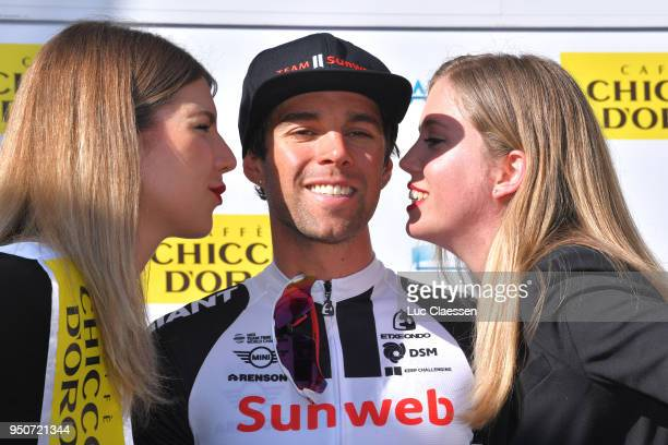 Podium / Michael Matthews of Australia and Team Sunweb / Celebration / during the 72nd Tour de Romandie 2018 Prologue a 4km individual time trial...