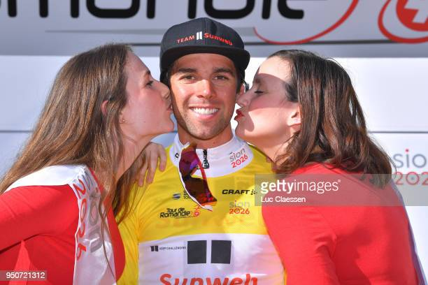 Podium / Michael Matthews of Australia and Team Sunweb Yellow Leader Jersey / Celebration / during the 72nd Tour de Romandie 2018 Prologue a 4km...