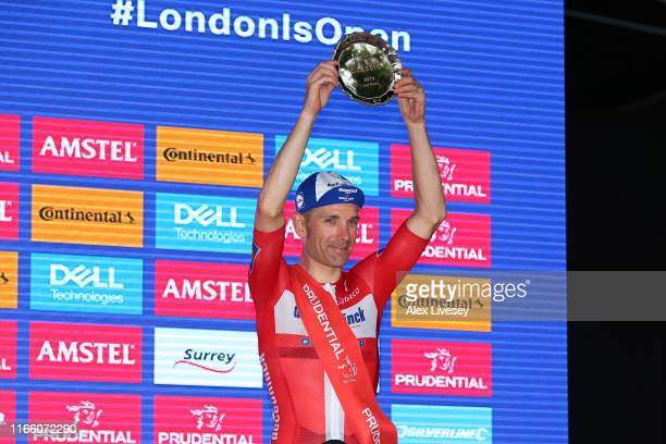 Podium / Michael Morkov of Denmark and Team Deceuninck - Quick-Step / Celebration / Trophy / during the 8th Prudential RideLondon-Surrey Classic 2019...