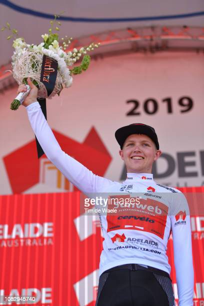 Podium / Michael Storer of Australia and Team Sunweb White Best Young Rider / Celebration / during the 21st Santos Tour Down Under 2019 , Stage 1 a...