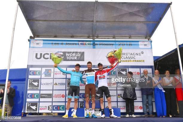 Podium / Michael Valgren Andersen of Denmark and Team Astana Pro Team / Oliver Naesen of Belgium and Team AG2R La Mondiale / Tim Wellens of Belgium...