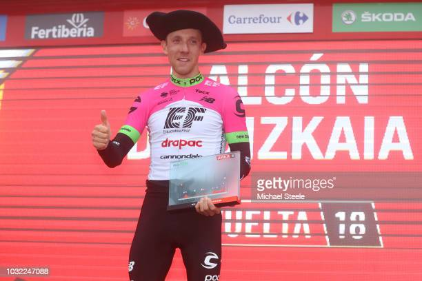 Podium / Michael Woods of Canada and Team EF Education First - Drapac P/B Cannondale / Celebration / during the 73rd Tour of Spain 2018, Stage 17 a...