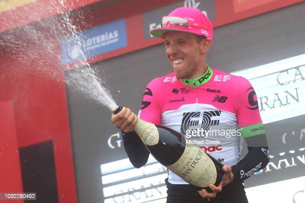 Podium / Michael Woods of Canada and Team EF Education First - Drapac P/B Cannondale / Celebration / Champagne / during the 73rd Tour of Spain 2018,...