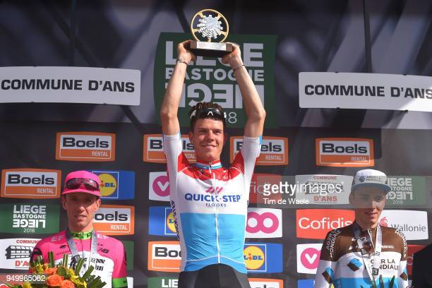 Podium / Michael Woods of Canada and Team EF Education First - Drapac P/B Cannondale / Bob Jungels of Luxembourg and Team Quick-Step Floors / Romain...
