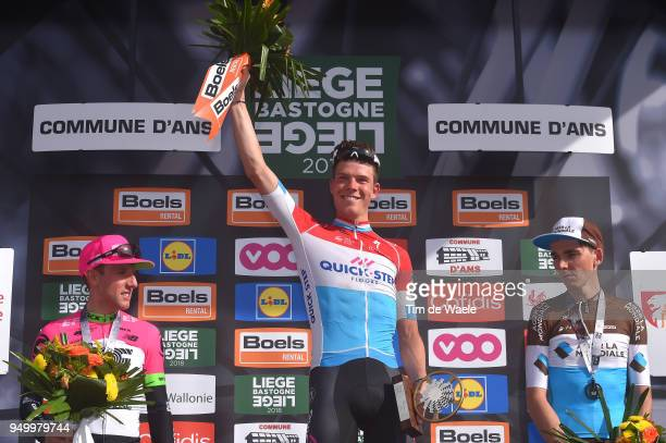 Podium / Michael Woods of Canada and Team EF Education First Drapac P/B Cannondale / Bob Jungels of Luxembourg and Team QuickStep Floors / Romain...