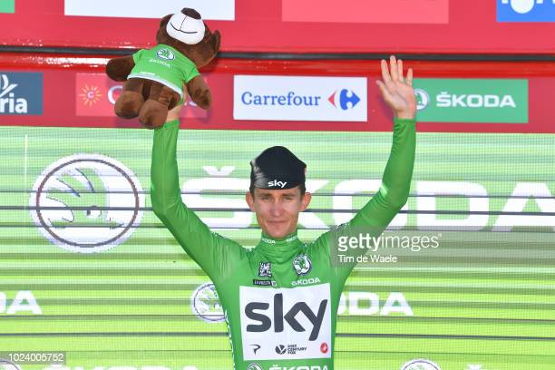 Podium / Michal Kwiatkowski of Poland and Team Sky Green Sprint Jersey Celebration / during the 73rd Tour of Spain 2018, Stage 2 a 163,5km stage from...