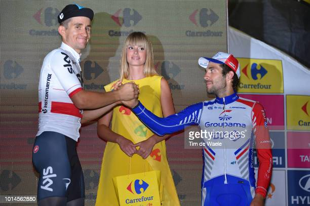 Podium / Michal Kwiatkowski of Poland and Team Sky / Thibaut Pinot of France and Team Groupama - Fdj / Celebration / during the 75th Tour of Poland...