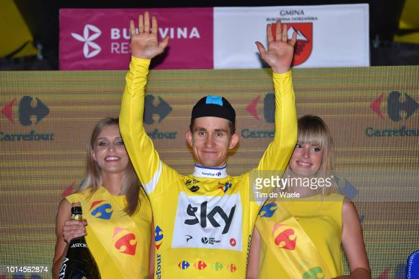 Podium / Michal Kwiatkowski of Poland and Team Sky Yellow Leader Jersey / Celebration / during the 75th Tour of Poland 2018, Stage 7 a 136,6km stage...