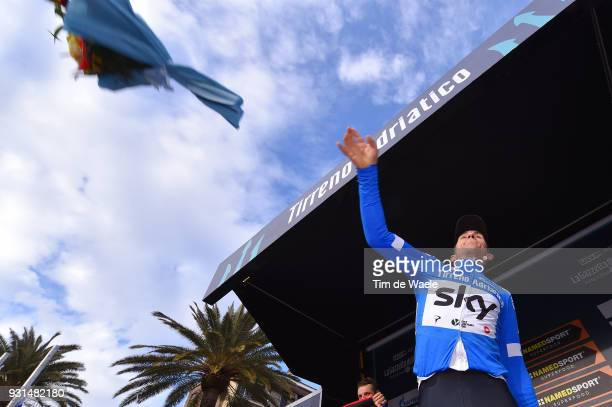 Podium / Michal Kwiatkowski of Poland Blue Leader Jersey Celebration / during the 53rd TirrenoAdriatico 2018 Stage 7 a 105km Individual Time Trial...