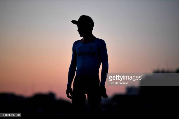 Podium / Miguel Angel Lopez of Colombia and Astana Pro Team Red Leader Jersey / Celebration / Silhouette / during the 74th Tour of Spain 2019, Stage...
