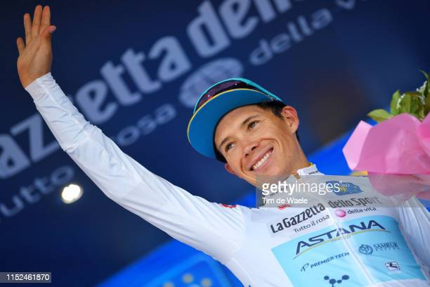 Podium / Miguel Ángel López Moreno of Colombia and Astana Pro Team White Best Young Jersey / Celebration / during the 102nd Giro d'Italia 2019 Stage...