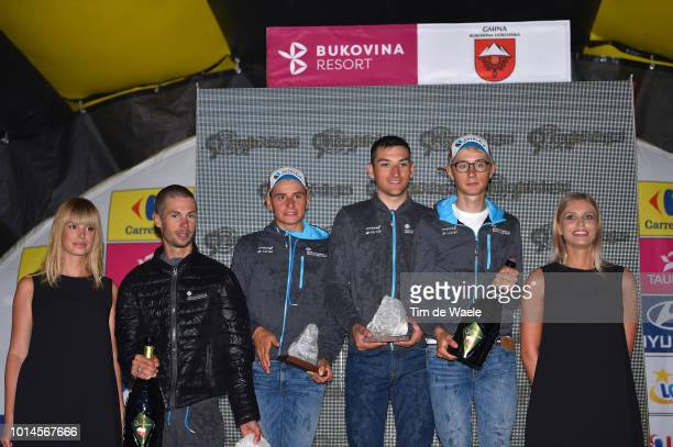 Podium / Mikael Cherel of France and Team Ag2R La Mondiale / Clement Venturini of France and Team Ag2R La Mondiale / Nans Peters of France and Team...