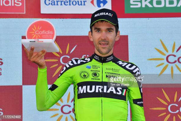 Podium / Mikel Iturria Segurola of Spain and Team Euskadi Basque CountryMurias / Celebration / Trophy / during the 74th Tour of Spain 2019 Stage 11 a...