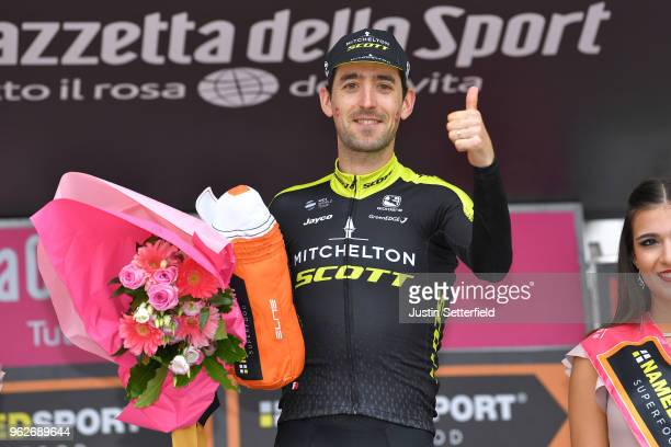 Podium / Mikel Nieve Ituralde of Spain and Team Mitchelton-Scott / Celebration / during the 101st Tour of Italy 2018, Stage 20 a 214km stage from...