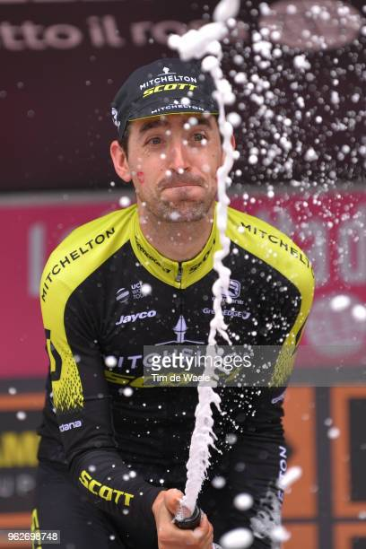 Podium / Mikel Nieve Ituralde of Spain and Team Mitchelton-Scott / Celebration / Champagne / during the 101st Tour of Italy 2018, Stage 20 a 214km...