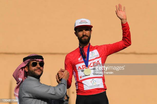 Podium / Nacer Bouhanni of France and Team Arkea-Samsic Red Points Jersey / Celebration / during the 1st Saudi Tour 2020, Stage 5 a 144km stage from...