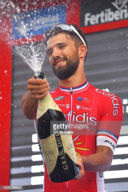 Podium / Nacer Bouhanni of France and Team Cofidis / Celebration / Champagne / during the 73rd Tour of Spain 2018, Stage 6 a 155,7km stage from...