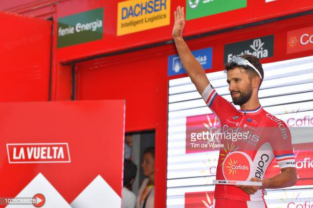 Podium / Nacer Bouhanni of France and Team Cofidis / Celebration / during the 73rd Tour of Spain 2018, Stage 6 a 155,7km stage from Huercal-Overa to...
