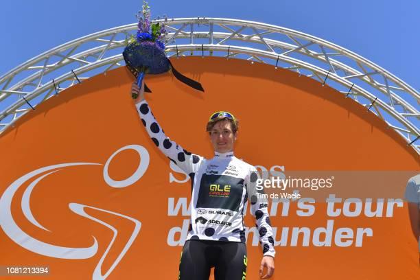 41c6e0130 Podium   Nadia Quagliotto of Italy and Team Ale Cipollini Polka Dot  Mountain Jersey   Celebration