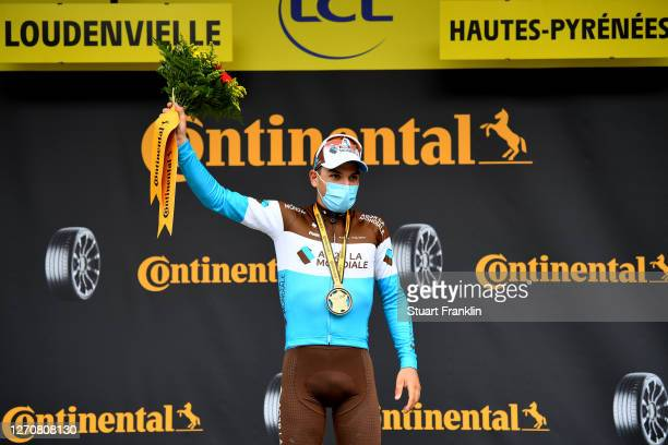 Podium / Nans Peters of France and Team Ag2R La Mondiale / Celebration / during the 107th Tour de France 2020, Stage 8 a 141km stage from...