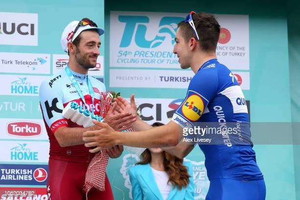 Podium / Nathan Haas of Australia and Team Katusha-Alpecin Silver Medal / Alvaro Jose Hodeg Chagui of Colombia and Team Quick Step Floors Gold Medal...
