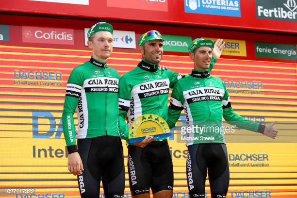 Podium / Nick Schultz of Australia / Luis Guillermo Mas of Spain / Cristian Rodriguez of Spain and Team Caja Rural - Seguros RGA / Celebration /...