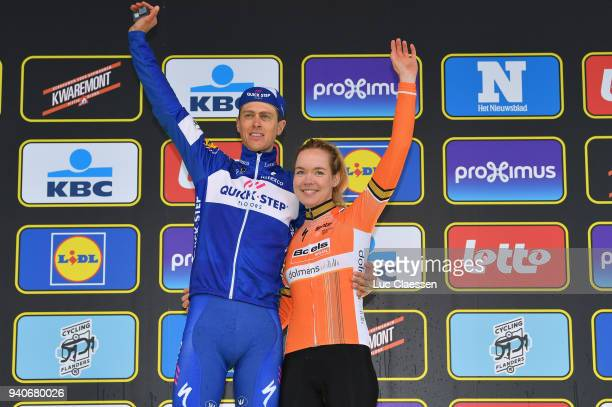 Podium / Niki Terpstra of The Netherlands and Team Quickstep Floors / Anna Van Der Breggen of The Netherlands and Boels - Dolmans Cycling Team /...
