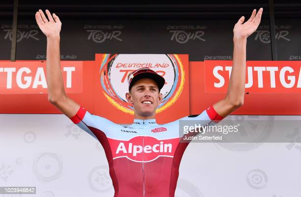 Podium / Nils Politt of Germany and Team Katusha - Alpecin White Best Young Jersey / Celebration / during the 33rd Deutschland Tour 2018, Stage 4 a...
