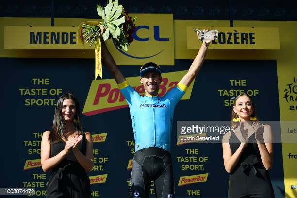 Podium / Omar Fraile of Spain and Astana Pro Team / Celebration / during the 105th Tour de France 2018 Stage 14 a 188km stage from...