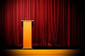 Podium on Empty Stage