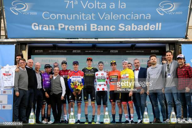 Podium / Oscar Cabedo of Spain and Team Burgos-BH Best Valencian Rider / Tao Geoghegan Hart of The United Kingdom and Team INEOS / Fabio Jakobsen of...
