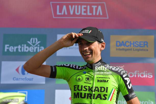 Podium / Oscar Rodriguez of Spain and Team Euskadi Murias / Celebration / during the 73rd Tour of Spain 2018 Stage 13 a 1748km stage from Candas...