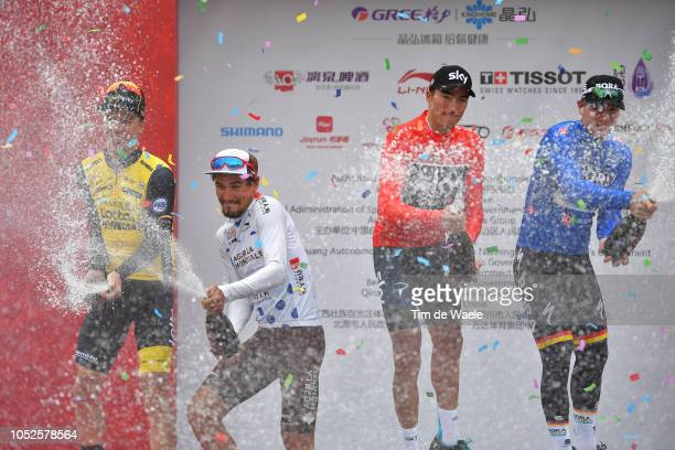 Podium / Pascal Eenkhoorn of The Netherlands and Team LottoNLJumbo Most Aggressive Rider / Silvan Dillier of Switzerland and Team Ag2R La Mondiale...