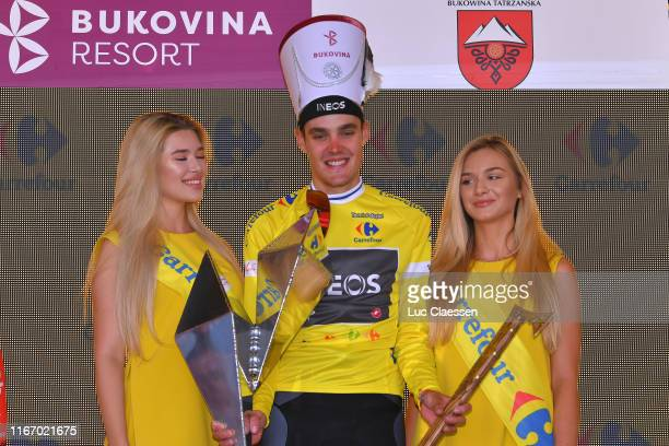 Podium / Pavel Sivakov of Russia and Team INEOS Yellow Leader Jersey / Celebration / Miss / Hostess / Trophy / during the 76th Tour of Poland 2019 -...