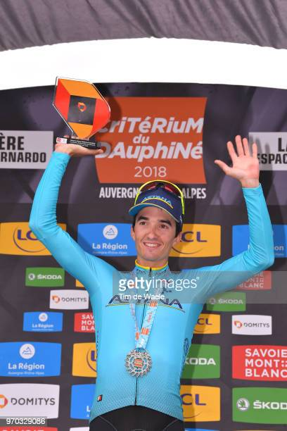 Podium / Pello Bilbao of Spain and Astana Pro Team / Celebration / Trophy / during the 70th Criterium du Dauphine 2018 Stage 6 a 110km stage from...