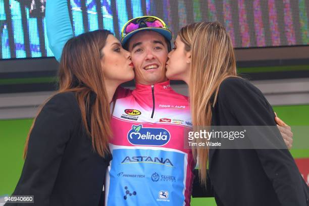 Podium / Pello Bilbao of Spain and Astana Pro Team in the purple leaders jersey / Celebration / during the 42nd Tour of the Alps 2018 Stage 1 a...