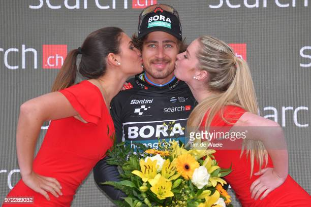 Podium / Peter Sagan of Slovakia and Team Bora - Hansgrohe Black Points Jersey / Celebration / during the 82nd Tour of Switzerland 2018, Stage 4 a...