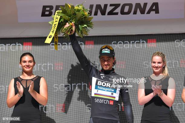 Podium / Peter Sagan of Slovakia and Team Bora Hansgrohe Black Points Jersey / Celebration / during the 82nd Tour of Switzerland 2018 Stage 8 a a...