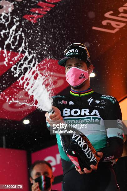 Podium / Peter Sagan of Slovakia and Team Bora - Hansgrohe / Celebration / Champagne / during the 103rd Giro d'Italia 2020, Stage 10 a 177km stage...