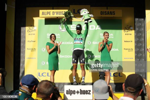Podium / Peter Sagan of Slovakia and Team Bora Hansgrohe Green Sprint Jersey / Celebration / during the 105th Tour de France 2018, Stage 12 a 175,5km...