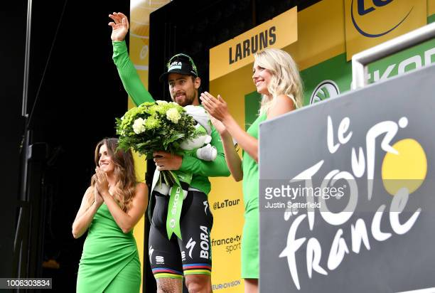 Podium / Peter Sagan of Slovakia and Team Bora Hansgrohe Green Sprint Jersey / Celebration / during the 105th Tour de France 2018, Stage 19 a 200,5km...
