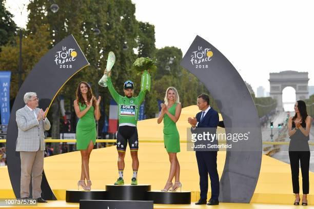 Podium / Peter Sagan of Slovakia and Team Bora Hansgrohe Green Sprint Jersey / Celebration / Arc De Triomphe / during the 105th Tour de France 2018,...