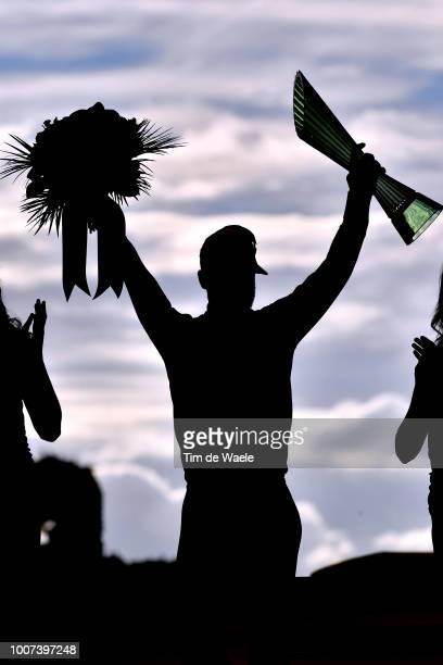 Podium / Peter Sagan of Slovakia and Team Bora Hansgrohe Green Sprint Jersey / Celebration / Trophy / Silhouet / during the 105th Tour de France 2018...