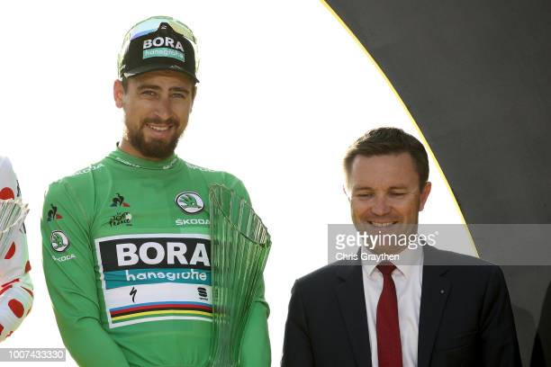 Podium / Peter Sagan of Slovakia and Team Bora Hansgrohe Green Sprint Jersey / Celebration / Trophy / during the 105th Tour de France 2018, Stage 21...